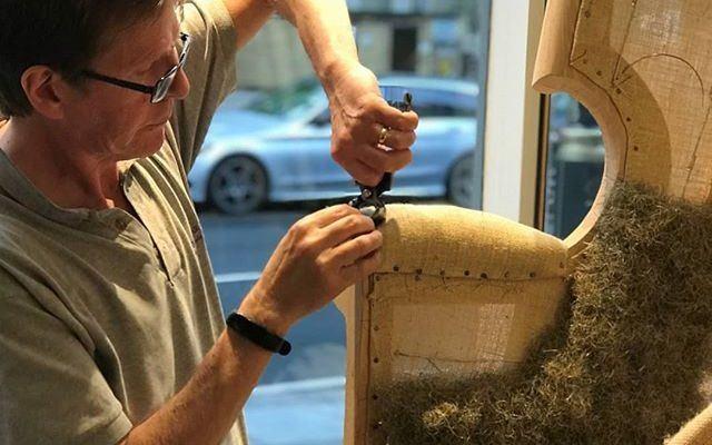 Craftmanship Upholstery in Belgravia showroom