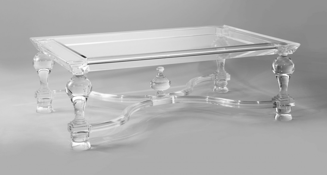 Acrylic coffee table the odd chair company for Used acrylic coffee table