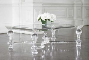 Acrylic Coffee Table (with center orb)