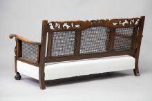 Walnut Art Noveau Style Sofa and Armchairs