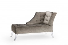 Bovina Acrylic Chaise three quarter view