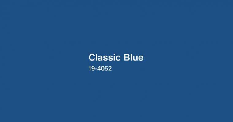 Classic blue pantone colour of the year