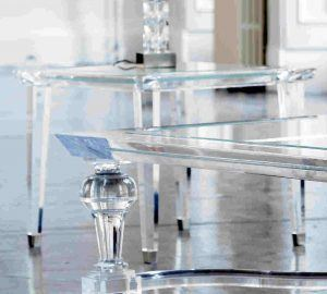 Close up photo of acrylic table