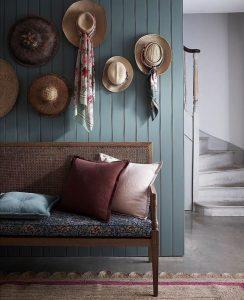 Bergere Bench with Liberty London Fabrics