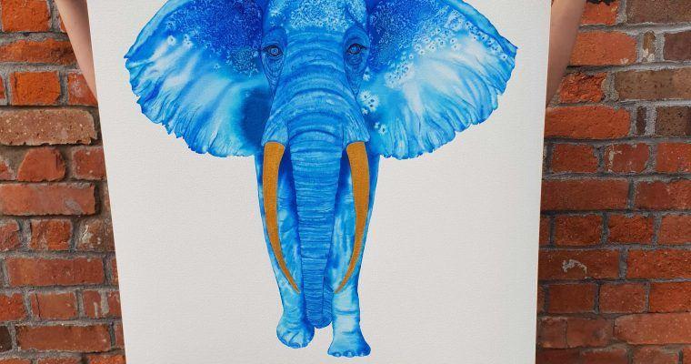 Elwyn Elephant hand painted