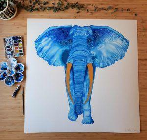 Elwyn Elephant painting 1