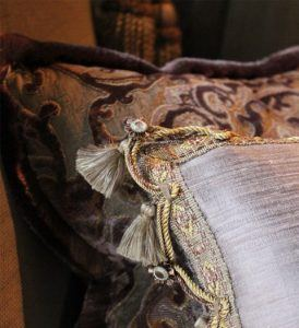 Handmade Scatter cushions with trimss