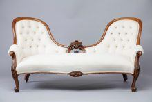 Victorian Deep Buttoned Carved Sofa