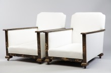 Japanned Laquered 19th Century Suite