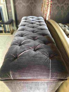 Deep button upholstered TV Ottoman