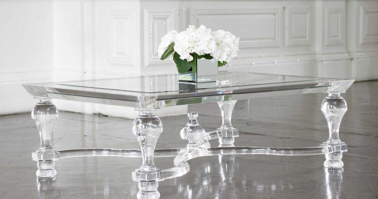 Victoria James' Acylic Coffee Table (with center orb)