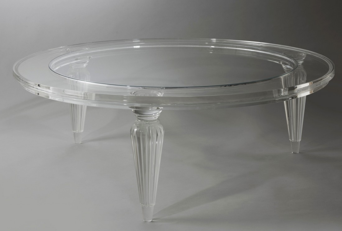 Acrylic Fluted Leg Coffee Table  The Odd Chair Company