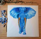 Big Elwyn Elephant Painting
