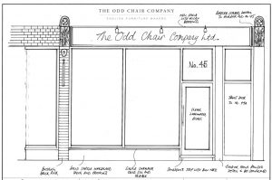 22 Pimlico Road Shop front drawing
