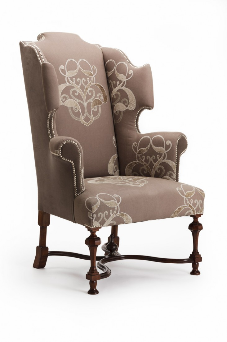 William Amp Mary Wing Chair The Odd Chair Company